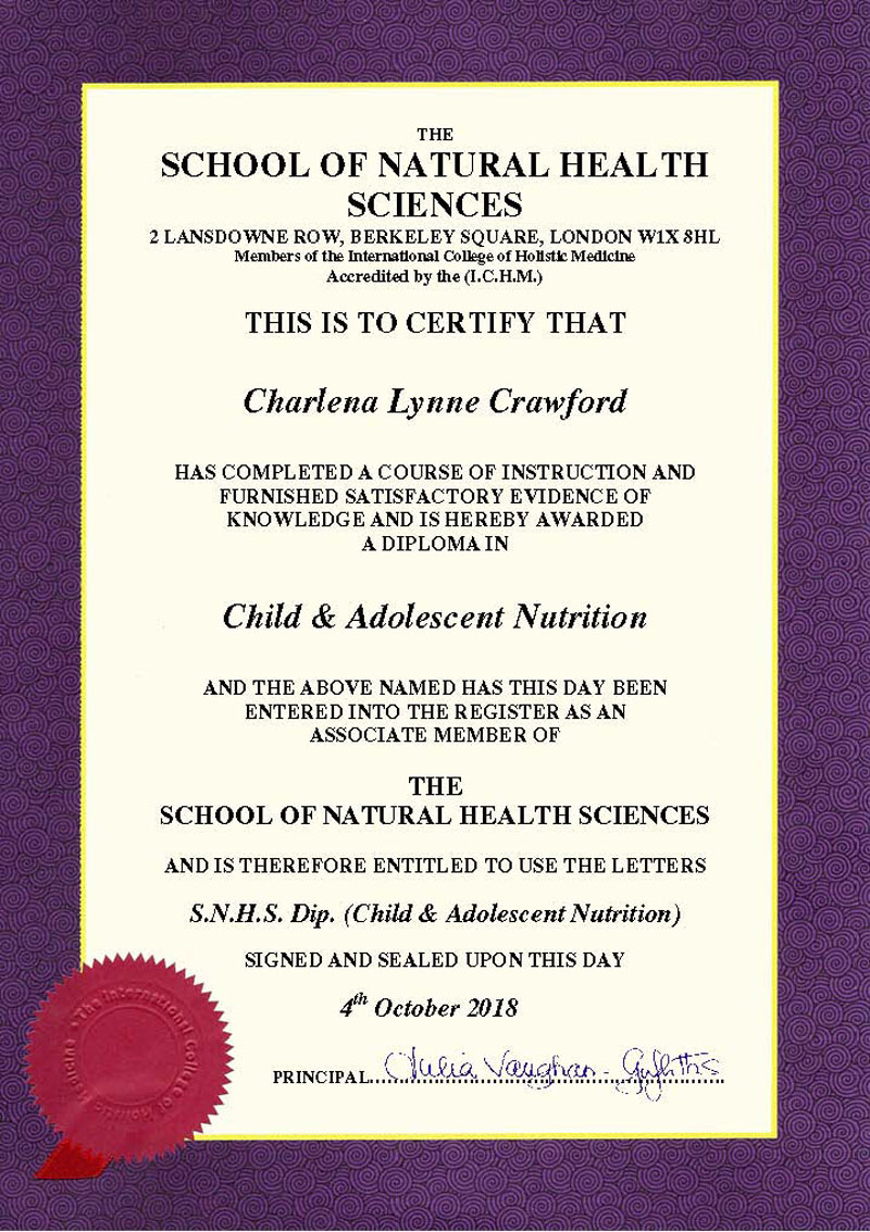 Child & Adolescent Nutrition Diploma