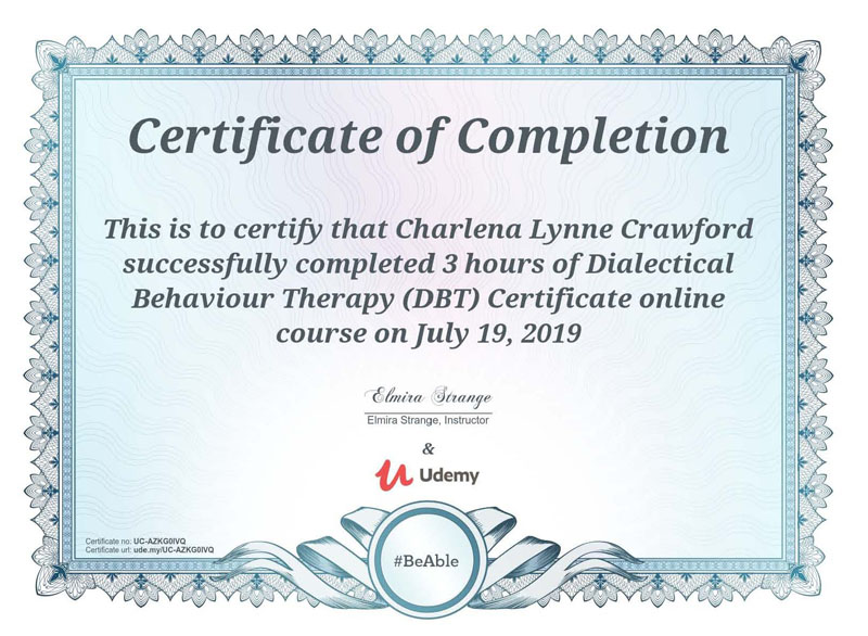 Dialectical Behavioural Therapy Diploma