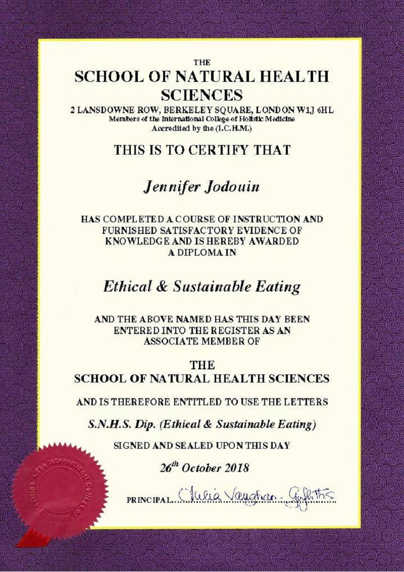 Ethical & Sustainable Eating Diploma