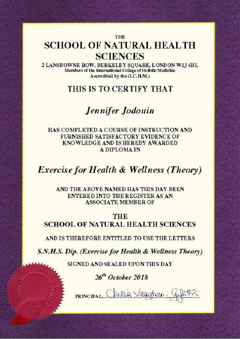 Exercise for Health & Wellness Diploma