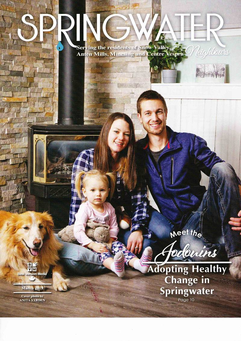 Jodouins - Adopting Healthy Change in Springwater, Springwater Neighbours